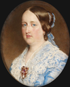 1852 Queen Dona Maria II of Portugal possibly by Guglielmo Faija (Royal collection)