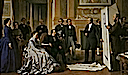 1865 The Emperor approves plans for the Louvre presented by Visconti by Ange Tissier (Versailles)