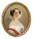 1853 Augusta of Saxe-Weimar, Queen of Prussia and Empress of Germany (1811-1890) when Princess of Prussia by Johann Heinrich Ludwig Möller (Royal Collection)