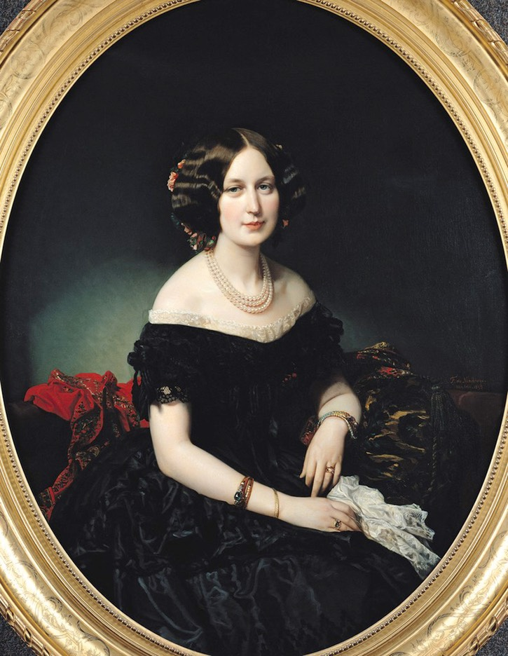 1853 Baroness of Weisweiller by Federico de Madrazo y Kuntz (Musée Bonnat - Bayonne France) UPGRADE From liveinternet.ru:users:5399361:post400252467: