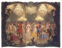 1854 Ball in the New Palace (Empress Alexandra Feodorovna) by Adolph von Menzel (Hermitage).