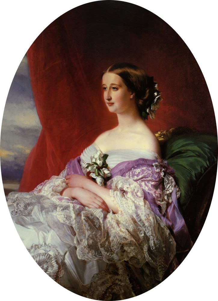 1854 Empress Eugénie by Franz Xaver Winterhalter (private collection) Wm UPGRADE