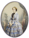 1854 Eugénie, Empress of the French by Mayer Frères (Royal Collection) From Pinterest search
