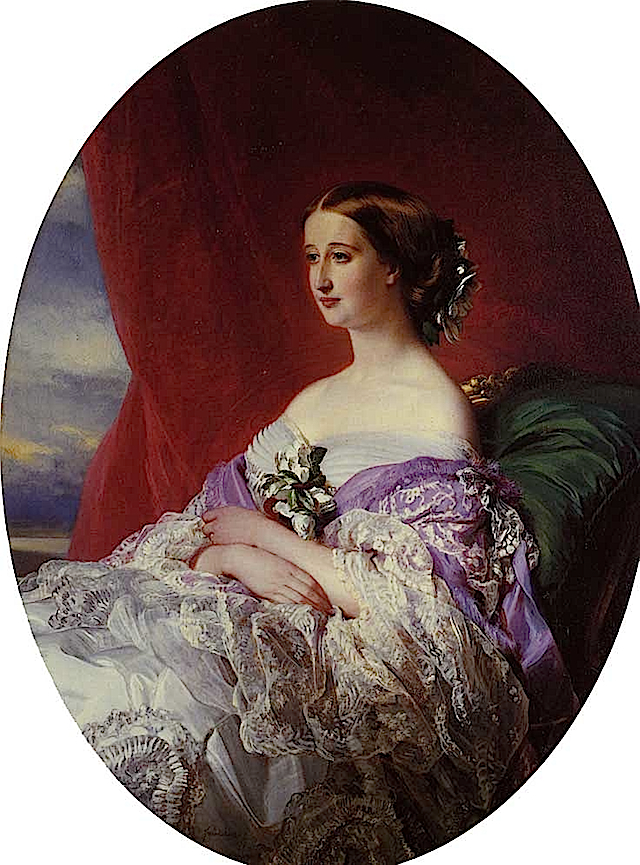 1854 Empress Eugene by Franz Xavier Winterhalter (private collection)