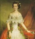 1855 Elisabeth wearing pre-crinoline court dress by ? (location unknown to gogm)