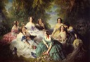 1855 Empress Eugénie Surrounded by Her Maids of Honor by Franz Winterhalter (Musée national du château de Compiègne - Compiègne, Picardie, France)