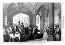 1855 Arrival of Napoléon III and Eugénie at Windsor Castle Illustrated London News of 25(?) April