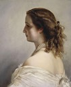 1861 Portrait of Empress Eugénie by Franz Xaver Winterhalter (Napoleonmuseum, Arenberg - Salenstein, Thurgau, Switzerland)