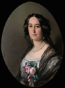 1855 Princess Feodora of Hohenlohe-Langenburg (1839-72) by William Corden the Younger (Royal Collection) From pinterest.com-mimicofmodes-1850s- X 1.25