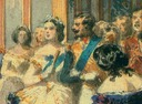 1855 Royal visit to Napoleon III - entrance to the Galerie des Glaces at the Hôtel de Ville, 23 August 1855 by Arthur Stanislas Diet (Royal Collection) detail