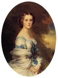 1857 Melanie de Bussiere, comtesse Edmond de Pourtales by Franz Xaver Winterhalter (private collection)