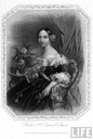 1857 engraving of Queen Isabel II (LIFE archives)