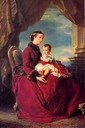 1857 The Empress Eugénie holding Louis Napoleon by Franz Xaver Winterhalter (private collection)