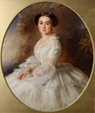 1857 Grand Princess Olga Feodorovna, née Cecilia Augustus, Princess and Margravine of Baden, by Richard Lauchert (State Hermitage Museum - St. Petersburg, Leningrad Oblast, Russia) From the museum Web site