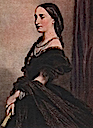 1857 Empress Carlota by J. Franck done in 1867 after 1857 portrait by E. Devaux (Musée de la Dynastie, Bruxelles Belgium)