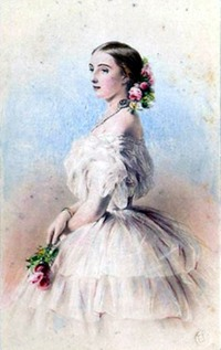 ca. 1857 Olga Feodorovna by Franz Xavier Winterhalter (location unknown, may have been destroyed during World War II)