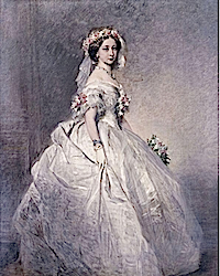 1858 Princess Alice as bridesmaid by or after Franz Xavier Winterhalter (Royal Collection)