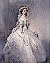 1858 Princess Alice as bridesmaid by or after Franz Xaver Winterhalter (Royal Collection)