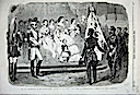 1859 Eugénie receiving Magenta flag from the Illustrated London News