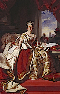 1859 Victoria, Queen of Great Britain & Ireland  in the Robes of State by Franz Xavier Winterhalter (Royal Collection)