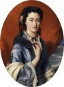 1860(?) Countess of Pushkin (may be Varvara Musina-Pushkina?) by Franz Xaver Winterhalter (location unknown)