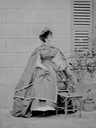 1860s Comtesse de Castiglione robe de taffetas by Pierre-Louis Pierson (Metropolitan Museum of Art - New York City, New York, USA) From the museum's Web site detint increased contrast trimmed