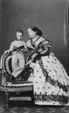 1860s (early) Isabel II and Infante Alfonso (XII) by Disdéri