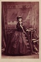 1861 (10 August) Infanta Isabella wearing a step ladder ornamented skirt by Camille Silvy