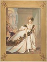 1861-1867 La Frayeur (Countess de Castiglione in white 18th century dress with grape garland flees fire) by Pierre Louis Pierson