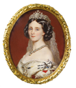 1861 Augusta of Saxe-Weimar by Anton Hähnisch (Royal Collection) From pinterest.com-ustava51-женский-образ-на-фарфоре-слоновой-кости-