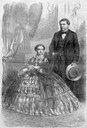 1861 Prince Napoleon and his wife, the Princess Clotilde Photographed by Fredericks from Harper's Weekly