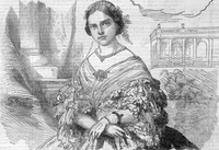 1861 Princess Clotilde from Harper's Weekly detint