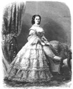 1862 Empress Elisabeth wearing flounced crinoline from 1862 issue of Die Gartenlaube Wm