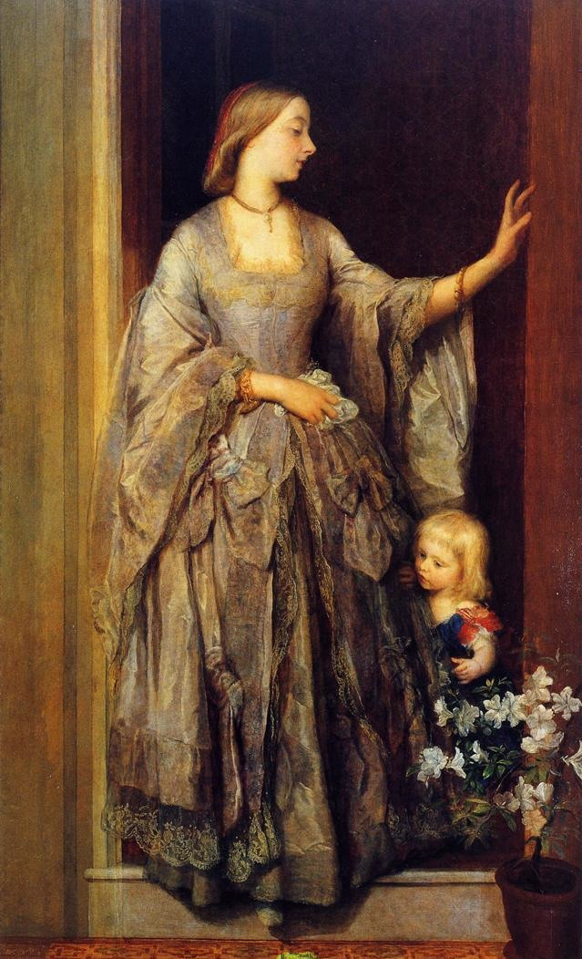 1862 Lady Margaret Beaumont, née de Burgh, and her Daughter by George Frederick Watts (private collection) From WikiArt P38261