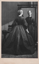 1863 (26 January) Lady Beatrix Craven standing before mirror wearing a crinoline by Camille Silvy (Paul Frecker) detint photo, not border