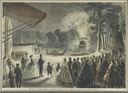 1863 Fireworks at the Imperial residence of Fontainebleau, in honor of the capture of Puebla (Chateau de Fontainebleau)