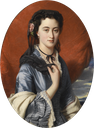 1864 Countess Natalia Alexandrovna of Merenberg, née Pushkina by Franz Xaver Winterhalter workshop (location unknown to gogm)