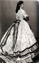 1863-4 Empress Elisabeth wearing a crinoline by Ludwig Angerer