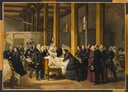 1866 The Empress visits cholera victims at the Hotel-Dieu by Paul Felix Guerie (Chateau de Compiegne, Compiegne)