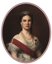 1867 Charlotte de Saxe-Coburg Gotha, princesse des Belges, archiduchesse d'Autriche, impératrice du Mexique in its frame by or after Santiago Rebull (location ?) From the lost gallery's photostream on flickr