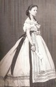 1868 (estimated) Isabel La Chatata wearing evening dress