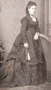 1869 (estimated) Infanta Isabel wearing a dark dress
