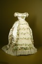1869 wedding gown of Elisabeth of Wied, Queen Consort of Romania (Fashion Institute of Design and Merchandising - Los Angeles, California USA)