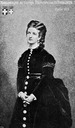 1870 Queen Margherita wearing a bustle dress from Patria Esercito Re p. 355
