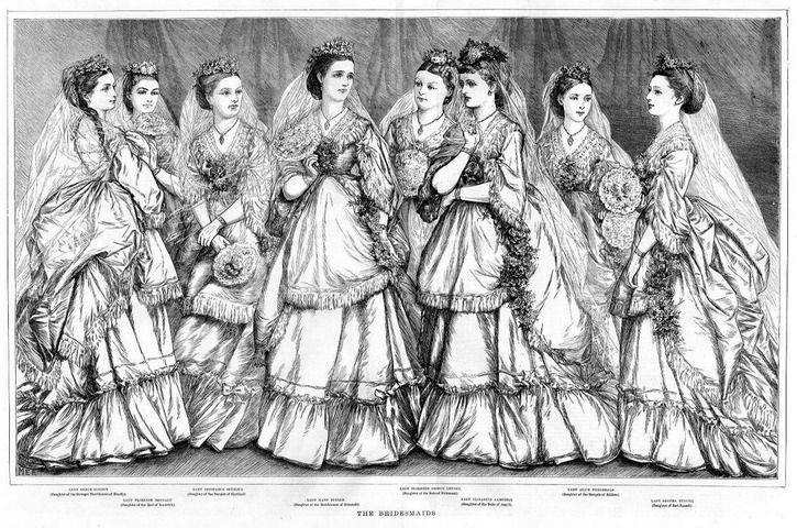 1871 The Bridesmaids from Every Saturday magazine EB