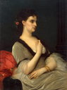 1873 Countess Elizabeth Vorontsova-Dashkova by Alexandre Cabanel (State Hermitage Museum - St. Petersburg, Russia)