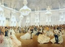 1873 (May) Ball in the Concert Hall of the Winter Palace during the official visit of the Shah Nasir al-Din by Mihaly Zichy (State Hermitage Museum - St. Petersburg Russia)