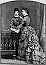 1873 Alexandra and Dagmar in polka-dotted dresses detint
