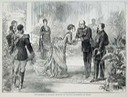 1875 Princess Margherita greets the German Emperor in Milan print