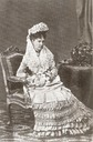 1875 Isabel wearing a mantilla